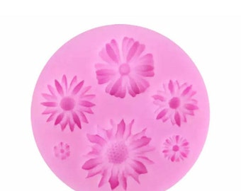 Flower silicone mould,flower cupcake toppers,flower cake topper,flower cupcake,flower cake,flower cake decorating,flower silicone mould