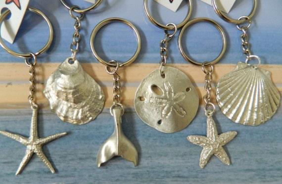 Pewter Sand Dollar Key Chain
