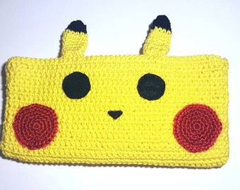 Ready to ship/phone case/accessories/hook/crochet/cute/animal/gift/pokemon/pikachu