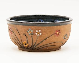 Wildflower Bowl | Soup Bowl | Salad Bowl | Cereal Bowl | Ceramic Bowl | Stoneware Bowl | Handmade Pottery | Wildflower | Spring Flowers