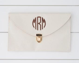 Monogrammed Envelope Clutch // Monogram Clutch