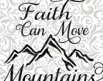 faith can move etsy Mukluk Hats faith can move mountains cut file svg eps studio