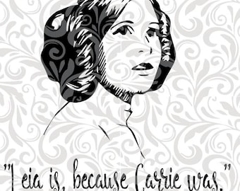 Princess Leia, Carrie Fisher SVG Cut File