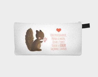 "Chest pencil - makeup pouch ""Squirrel"" for teacher"