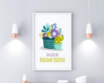 """Cactus"" class poster for PDF educators (printable)"