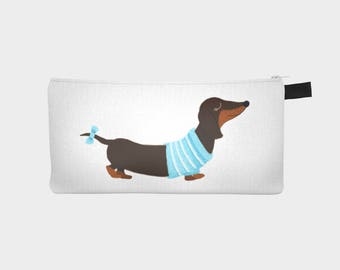 "Chest pencil - makeup pouch ""Dachshund"""