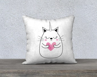 "Pillow cover ""Unicorn kitten"""
