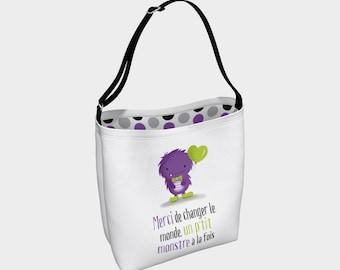 """Shoulder bag """"P'tit monstre"""" for teachers and educators"""