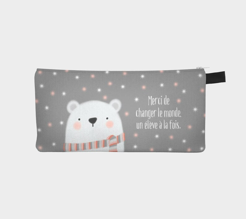 Chest pencil  makeup pouch Bear for a teacher and image 0