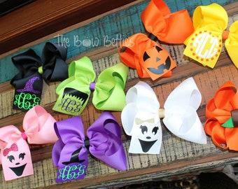 7f9d6f952e81 halloween hair bow pumpkin hair bow witch hair bow ghost hair bow  frankenstein hair bow candy