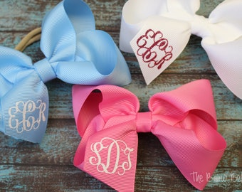 Boutique Accessories Handmade Hair Bow Vintage Baseball Fabric Bow