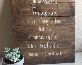 Rustic Wooden Sign  - Jars of Clay