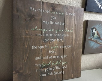 An Irish Blessing - Rustic Wooden Sign