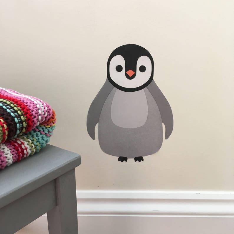 penguin decal penguin wall sticker baby penguin penguin | etsy