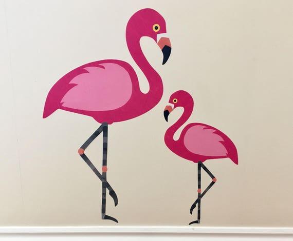 Flamingo wandtattoo flamingo wandsticker flamingo wandbild - Flamingo wandtattoo ...
