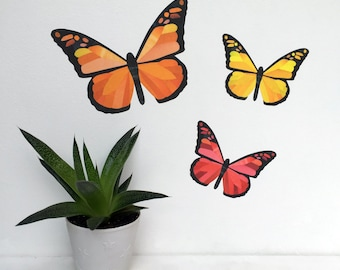 Butterflies Wall Stickers, Autumn Wall Stickers, Fall Wall Decals, Butterfly Wall Stickers, Butterfly Wall Decals, Fall Decor, Thanksgiving