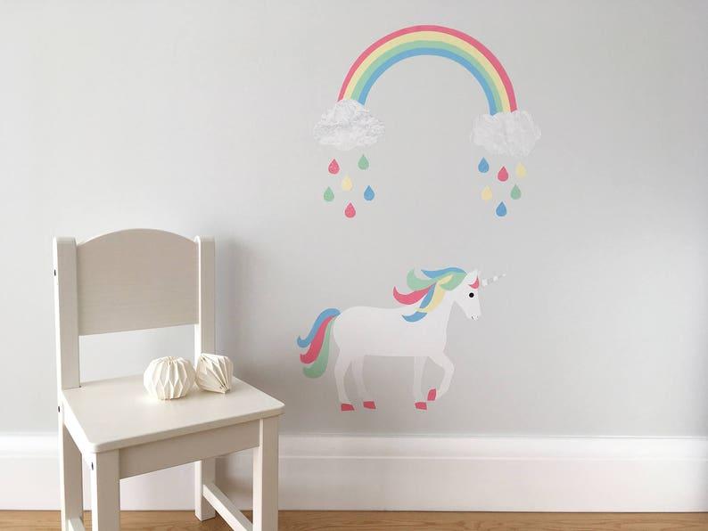 ea5b3ebc47652 Unicorn and Rainbow Wall Stickers Rainbow Unicorn Rainbow