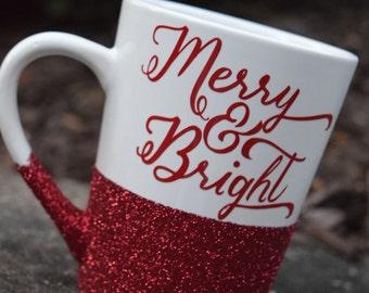 christmas mug christmas coffee mug christmas gift christmas gifts holiday coffee mug holiday gift glitter coffee mug - Christmas Coffee Cups