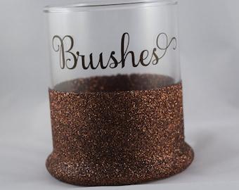 Makeup Brush Holder, Brush Holder, Makeup Holder, Cosmetics, Makeup Organization, Makeup Storage, Makeup Brushes Holder, Brushes, Glitter