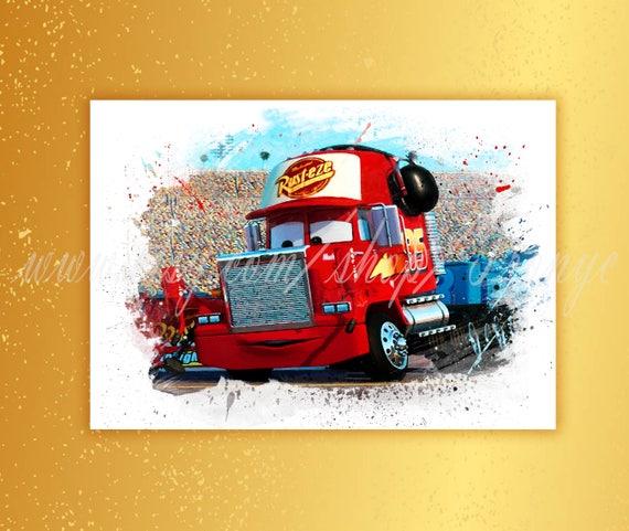 Terrific Cars Mack Truck Lightning Mcqueen Movie Poster Watercolor Print Kids Print Pixar Poster Wall Art Kids Room Decor Nursery Art T 159 Evergreenethics Interior Chair Design Evergreenethicsorg
