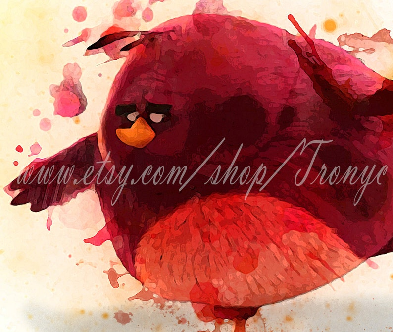 Terence Angry Birds in Action movie Watercolor Poster, Big Brother Bird in  the angry birds, Angry Birds Terence Prints art by TRONYC T-047