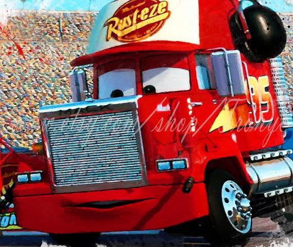 Cool Cars Mack Truck Lightning Mcqueen Movie Poster Watercolor Print Kids Print Pixar Poster Wall Art Kids Room Decor Nursery Art T 159 Evergreenethics Interior Chair Design Evergreenethicsorg