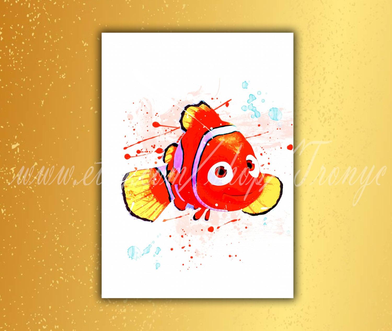 Encontrar Nemo Dory Nemo el pez payaso Nemo acuarela | Etsy