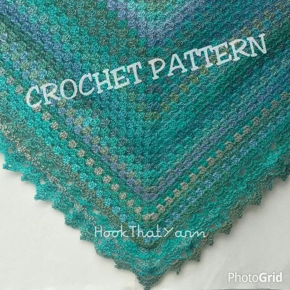 Crochet Pattern Granny Pine Shawl Crochet Pattern Shawl And Etsy
