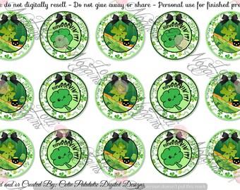 Saint / St. Patricks / Patty Day - Green / Shamrock / Clover   1 inch Digital Bottle Cap file