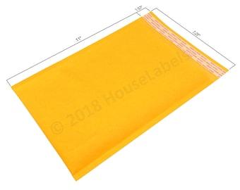 "1 Bag #1 7.25X12 KRAFT Bubble Padded Envelope Interior 7.25"" x 11"""