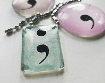 Necklace: Semi colon necklace | Depression | Mental illness |