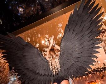 2d0889aae Angel wings - black wings - incredible wings - party decor - cosplay