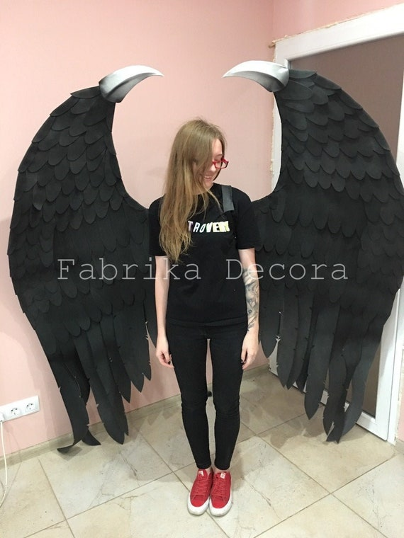 Magnificent Maleficent Wings Black Wings Incredible Wings Party Decor Cosplay Corporate Style Gothic Evening Decoration