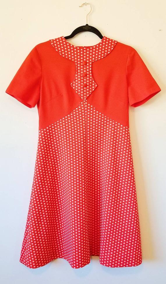 Vintage 1960's Mod Polka Dot Mini Dress - image 2