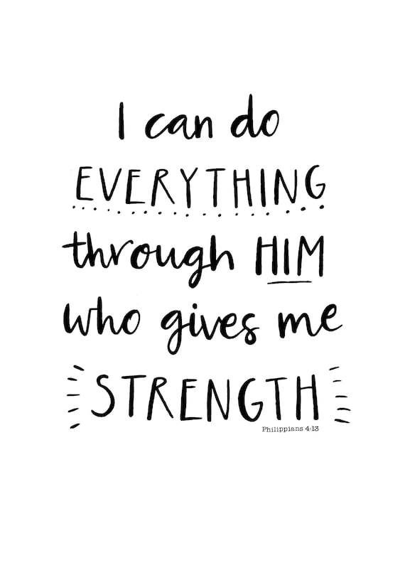 54a3cb7c9 A4 Print I can do everything through Him who gives me   Etsy