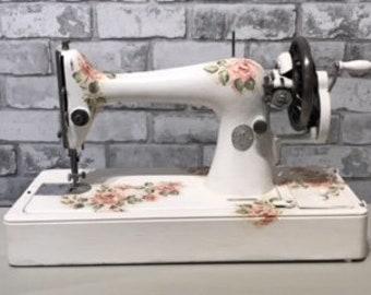 Decoupaged Singer Sewing Machine