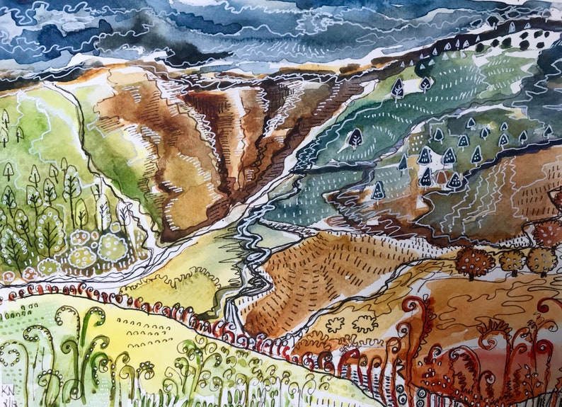 Variation 1 Pack of 5 /'Shropshire/' Greeting Cards