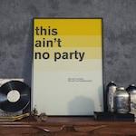 David Byrne Quote Poster Print, Minimal Art, Home Decor, Talking Heads Art, Music Wall Art, Typography Print
