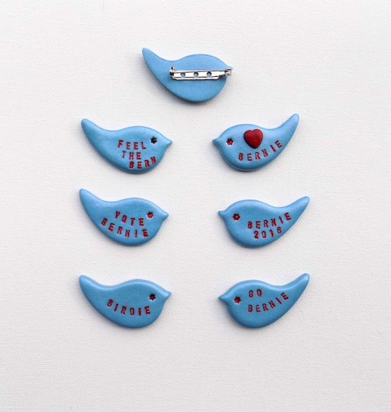 bernie sanders pin bernie bird pin bernie sanders buttons etsy