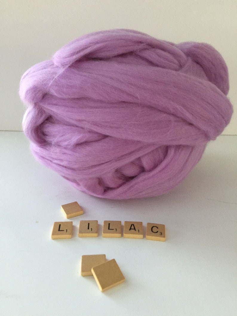 Nuno Felting Lilac Merino Wool Top Felting Wet Felting Sold By The Ounce Needle Felting Spinning Hand felting