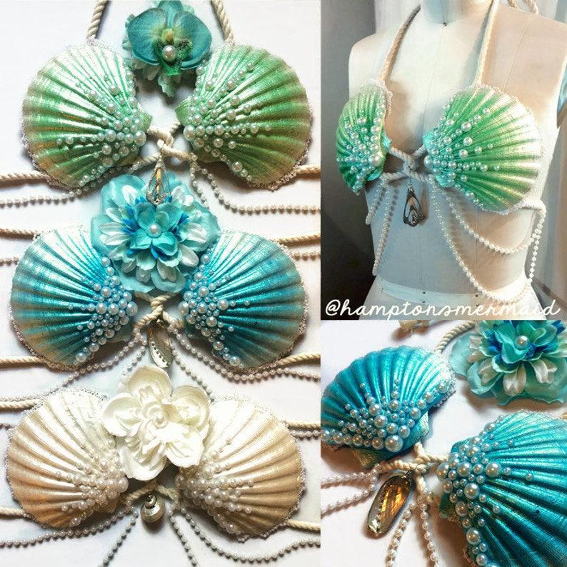 9f163241fa Mermaid Clamkini Swimmable Mermaid Bra Top Any Color