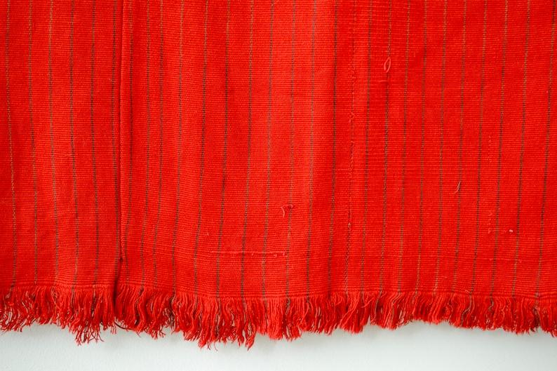 Vintage Red Guatemalan Huipil with Animals