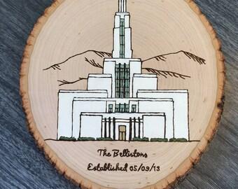 LDS Temple Custom Wood Burn