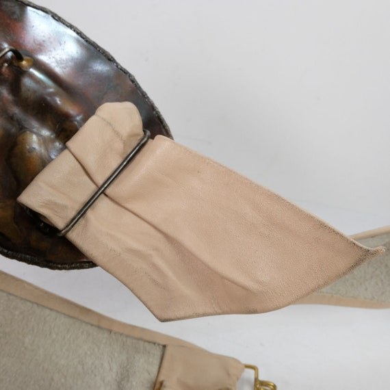 Vintage Semi-Precious Stone Statement Leather Belt - image 5