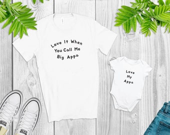 Love it When You Call Me Big Appa, Korea T-Shirt & Onsie Bundle, Korean Father T-Shirt, Korean Father and Baby Gift
