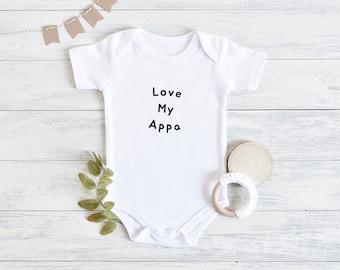 Love My Appa Korean K-Pop Infant Onsie