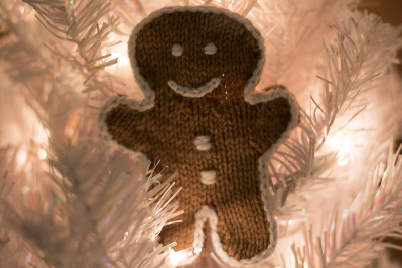 Hand Knitted Gingerbread Man Ornament image 0