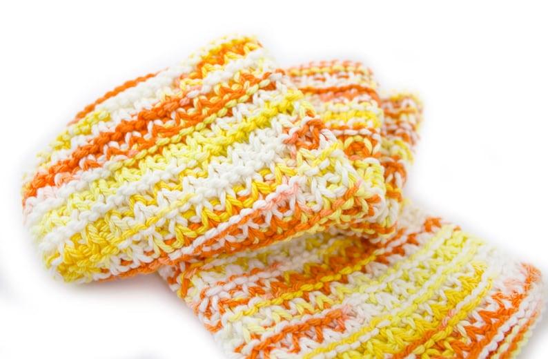 Hand Knit Dishcloth Set of 3  Hand Knit Washcloth  image 0