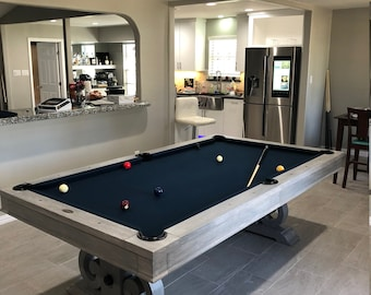 Custom 7u0027 Or 8u0027 Elegant Pool Table   Grey Wash Finish (Please Allow 3 5  Weeks For Customization)