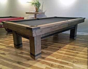 Or Industrial Pool Table Weathered Pool Table Etsy - Industrial style pool table
